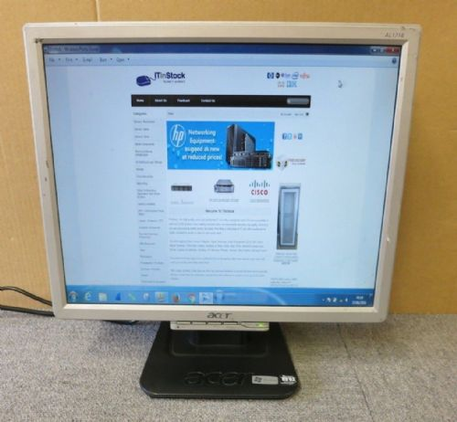 "Acer AL1716F ET.1716P.232  17"" Black & Silver LCD TFT Flat Screen Colour Monitor"